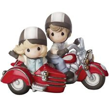NEW Precious Moments FOREVER BY YOUR SIDE Motorcycle Sidecar Couple Porcelain