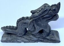 Black Stone Dragon Carving