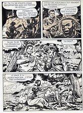 BOB LEGUAY METAMORPHOSE PLANCHE ORIGINALE TIM L'AUDACE ANNEES 1950 PAGE 13