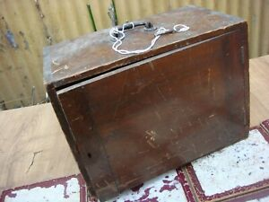Vintage Old Antique Wooden Case For Sewing Machine Wilcox Willcox & Gibbs