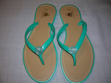 6d867aab33c65f womens flip flops size 12 Jelly medallion thong Coral Mint Green sandals T18