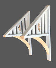 Timber Window Awning Canopy Bracket Sides Only with gumnut cutouts