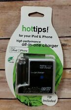Hottips All In One Foldable Wall and Car Charger USB for Apple iPhone iPad IPod
