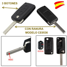 FUNDA  LLAVE MANDO PARA PEUGEOT 107-206-207-307- 308 -407 3 BOTONES + ESPADIN