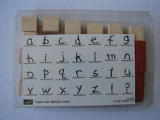 NEW UNUSED Stampin Up 2002 Crayon Fun Alphabet Lower Case Rubber 28 Stamps