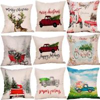 Pillow Case Home Decor Cushion Cover Christmas Throw Sofa Merry Gift Xmas Car