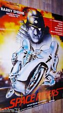 SPACE RIDERS  ! affiche cinema rare moto vintage futuriste science fiction
