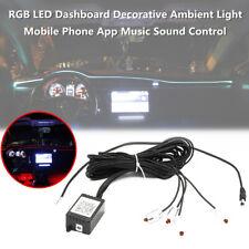 Car LED Ambient Light Dashboard Decorative Mobile phone App Music Sound Control
