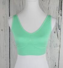 Rhonda Shear Women Seamless Leisure Bra Full Coverage Lucite Green XL Pullon