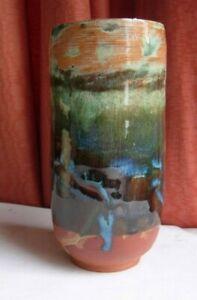 Handmade ceramic stoneware pot vase individualistic unique cylinder
