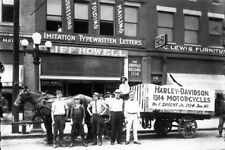 1st Harley Davidson Motorcycle Delivery PHOTO Birmingham,AL 1914, Bike Shop