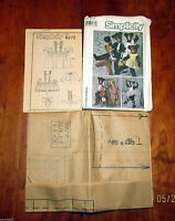Vtg Simplicity Sewing Pattern Bear Family Costume Size Child 2-4 Uncut FF #8272