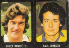 Football 79/80 stickers-NUMÉROS 259 (Paul Johnson) et 343 (Bruce Bannister)