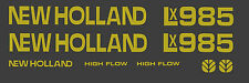 New Holland LX985 Skid Steer DECAL KIT for your loader, LX 985  FREE SHIPPING
