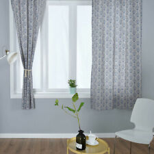 Ethnic Boho Cotton Linen Curtains Blue And White Porcelain Drapes Window Curtain