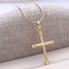 Modeschmuck-Halsketten & -Anhänger mit Zirkonia-Perlen für besondere Anlässe-Kreuz-Motiv