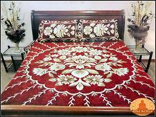 Colcha de la India con fundas de almohadas 225x255cm