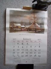(17) TRAVELERS CALENDAR OF CURRIER AND IVES PRINTS 1956- 1979