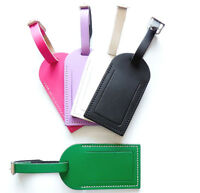 Chunky Thick Leather luggage tags Many Colours Black Pink Mustard And More