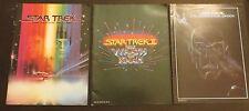 THREE - COLOR - STAR TREK MOVIE PROGRAMS - ( I ) 1979 ( II ) 1982 ( III ) 1984