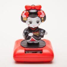 Solar Powered Bobblehead Toy Figure Nohohon, Japanese Kimono Maiko Geisha -...