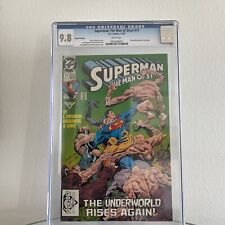 Superman The Man of Steel #17 Very Rare 2nd Print CGC 9.8 White Pages. Doomsday!