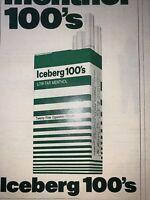 1972 Print Ad Lucky 100's cigarette Vintage Magazine advertisement