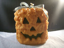 4X4 GRUBBY PUMPKIN PILLAR CANDLE - YOUR CHOICE OF FRAGRANCE-HIGHLY SCENTED !!!