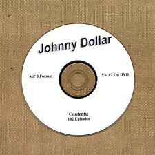 OLD TIME RADIO OTR  YOURS TRULY JOHNNY DOLLAR VOL # 2 ON DVD MP3