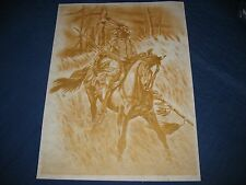 * TRI CHEM 2460 WARRIOR HUNTER HORSE WOODS Liquid Embroidery Picture TRICHEM