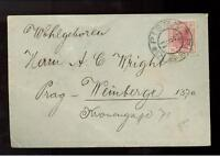 1908 Pisek Austria Czechoslovakia cover to Prague