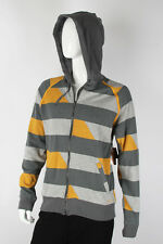 Paul Frank SMALL $94 Grays Mustard Stripes MP3 Player Pocket  Zip-Up Hoodie NWT