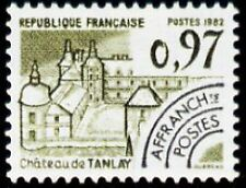 """FRANCE PREOBLITERE TIMBRE STAMP N°174 """"MONUMENTS, TANLAY, YONNE"""" NEUF xx TTB"""