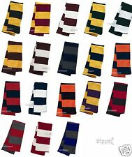 Sportsman Rugby Striped Knit Scarf College Football Team Sports Colors SP02