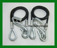"""Coiled Safety Cables Trailer 40"""" 3,500 lb. Replace Chains"""