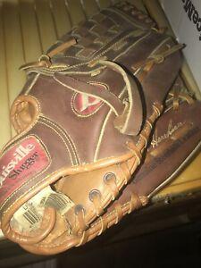 "Baseball Glove Louisville Slugger Hershiser Leather 12"" RHT  LPS35H Steerhide"