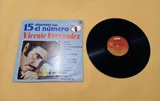 Vicente Fernandez Lp Vinyl 15 Grandes Exitos  1985 15 Grandes Con El Numero Uno