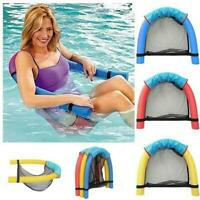 Floating Pool Chair Mesh Seats Hammock Noodle Sling Swimming Net Float Seat
