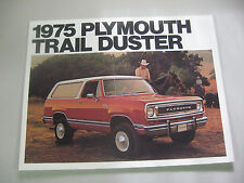 1975 PLYMOUTH TRAIL DUSTER SALES LITERATURE NOS