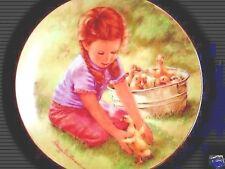 Girl w Washtub Of Baby Ducks #'d Hamilton Plate 1985 - Abigail Wiilliams