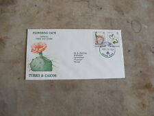 1981 First Day Cover/ FDC  - Turks & Caicos Islands - Flowering Cacti