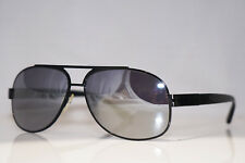 PRADA Mens Designer Flash Mirror Sunglasses Black Aviator SPR 50L 7AX-1A1 14599