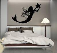 Wall Decal Mermaid Marine Star Girl Room Bathroom Decor Vinyl Stickers (ig2819)