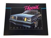 1984 Pontiac Phoenix Original Canada Car Sales Brochure Catalog