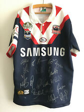 Sydney Roosters signed 100 years shirt M NRL Australia Trikot Jersey Rugby