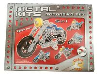 Metal Kits Motorbike Set 5 in 1 Building Construction Toy, Children, Boys, Gifts