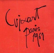 "Modest Cuixart montado Vintage Litografía firma, Paris 1961, 10 X 10"""