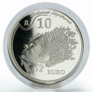 Spain 10 euro Salvador Dali Portrait of Gala painter proof silver coin 2009