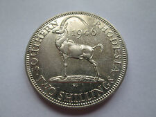 SUPERB AUNC RARE 1946 SOUTHERN RHODESIA 2 SHILLINGS