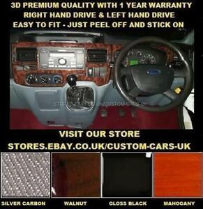 FORD TRANSIT MK7 2006-2014 Van & Motor Home Dash Kit - Walnut Carbon Gloss Black